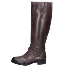 scarpe donna KAMMI 36 stivali beige scuro pelle BX432-36