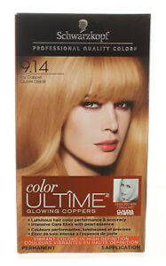 SCHWARZKOPF 9.14 ICY COPPER COLOR ULTIME GLOWING COOPERS HAIR COLOR