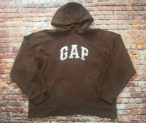 Gap Spell Out Brown Hoodie Size XL