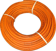 50 Metre Coil 8mm Orange LPG Gas Hose Pipe - High Quality, Propane, Butane