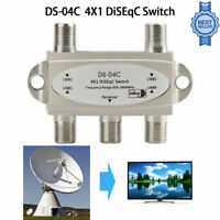 1Pcs DiSEqC 4x1 Switch Umschalter DS-04C Modell DS41 , 4 Satelliten, 4 Wege DE