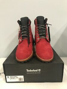 Timberland Men's 6 Inch Heritage Boot, Dark Red, size 12
