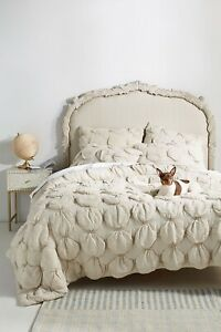 Anthropologie Textured Elroy Quilt Size King