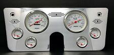 "1967 1968 1969 1970 1971 1972 Chevy Truck 6 Gauge Dash Panel Insert 5"" White"