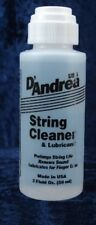 D'ANDREA GUITAR STRING CLEANER & LUBRICANT 2 OUNCE BOTTLE