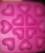 NEW Hearts Ice Jello Candy Craft  Mold Silicone Bath Bombs Crayon Soap Candle
