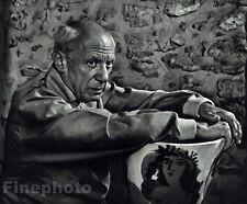 1954 Vintage PABLO PICASSO Artist Painting Sculpture Spain France By KARSH 16x20