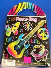 Neon Party Hippie Peace Butterfly Girls Kids Birthday Favor Set Gift Goody Bag