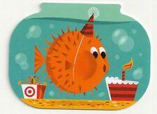 Target Birthday Blowfish Oversized Die-Cut 2013 Gift Card 790-01-2003