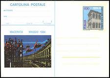 ITALIA 1984 Macerata MAGGIO CARTOLERIA postale card non usati #c36947
