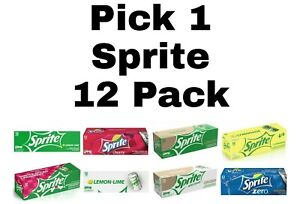 Pick 1 Sprite Soda Pop 12 Pack
