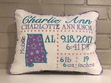 Birth Announcement Decorative Pillow