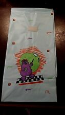 VINTAGE MCDONALD'S  PLASTIC HAPPY MEAL LUNCH BAG FREE SHIPPING