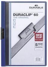 Durable DURACLIP® 60 A4 dunkel blau NEU Bewerbungsmappe Cliphefter