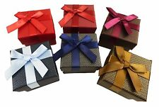 12 NEW Wholesale Gift Boxes with Ribbon Bow for Earrings / Rings - 5x5x3cm