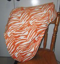 Horse Stock / Western / Swinging Fender Saddle cover FREE EMBROIDERY Zebra