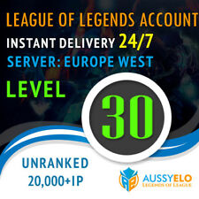 League of Legends Account LOL | EUW | Level 30 | 20.000+ IP | 20k+ Unranked
