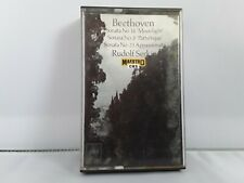 Beethoven - Sonata No.14, 8 And 23 - Rudolf Serkis Cassette Tape - FREE P&P! UK