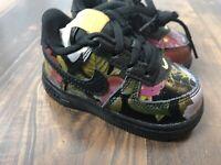Nike Force 1 LXX Floral AV2856 001 Baby Toddler Size 4C  New
