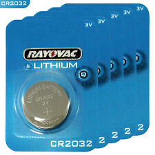 5 x Rayovac CR2032 batteries Lithium 3V Coin cell Watch ECR2032 BR2032 EXP:2023