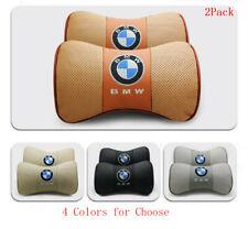 2PCS Car Neck Pillow Breathable Headrest Cushion Comfortable Soft for BMW