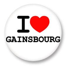 Magnet Aimant Frigo Ø38mm ♥ I Love You j'aime Serge Gainsbourg Gainsbarre