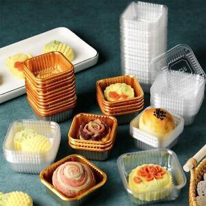100pcs Mooncake Plastic Inner Tray Egg Yolk Crisp Cake Hold Plastic Packing Box.