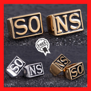 Rings Sons Of Anarchy Rings Men Rock Punk Harley Silver Gold Ring Titanium Steel