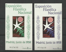 Espagne YT BF 19/20 ** MNH  D + ND  Exposition Madrid 1958