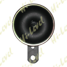 H-L MOTORCYCLE 6V  HORN 75MM O-D BLACK, WITH MOUNTING BRACKET 100db BC31320 T