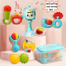 10pcs Baby Rattles Set Grab Teether Shake Toddler Educational Toys with Box New