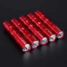 5Pcs 3W Police Waterproof Ultra Bright LED Mini Flashlight Torch Camping Red TL