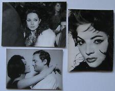 SARITA MONTIEL 3 PHOTOGRAPHIES ARGENTIQUES PRESSE 3 VINTAGE PRESS PHOTOGRAPHS
