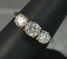 Vs 1.25ct Diamond 18ct Gold Trilogy Engagement Ring d0543