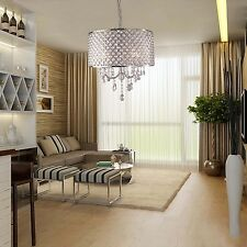 Modern Drum Crystal Chandelier Ceiling Lighting Pendant Lamp Dining Living Room
