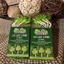 St. Patrick's Day Green Shamrock Shaped Led String Lights Bundle