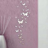 30PC farfalla combinazione 3D specchio parete adesivi Home decorazione fai da te