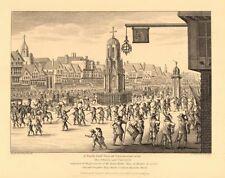 CHEAPSIDE. NE view. Cross & conduit. Procession of Mary De Medicis 1834 print