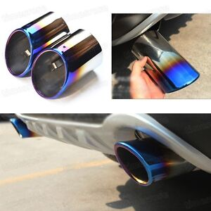2x Blue Exhaust Muffler Tail Pipe Tip Tailpipe for Ford Kuga 2013-2017 14 15 16