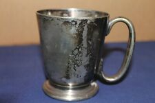 More details for vintage collectable mappin & webb 1/2 pint tankard (tarnished) w16518