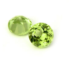 Natural Peridot 4mm Round Faceted Cut 10 Pieces Green Color Loose Gemstone Lot
