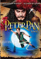 Peter Pan Live! (DVD, 2014) Allison Williams Christopher Walken