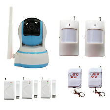 Video Camaras Security Home IP Camera PTZ Wi-fi + Wireless Alarm PIR Door Sensor
