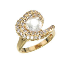 Yellow Gold Plated Green Amethyst Heart Ring (1.30 CT)