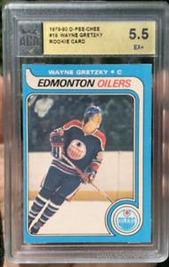 1979-80 O-PEE-CHEE #18 WAYNE GRETZKY ROOKIE CARD ACA 5.5 GRADED EX+