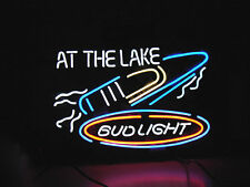 "New Bud Light At The Lake Neon Light Sign 19""x15"""