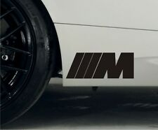 2 x BMW M Series Premium Side Skirt Decals Stickers M3 M5 M6