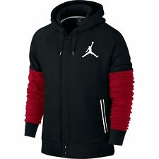 NEW Men's Jordan by Nike Varsity Hoodie Jacket Size: Medium Color: Black/Red