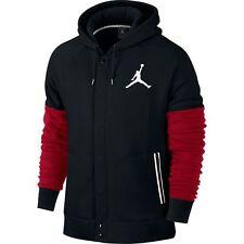 NEW Men's Jordan by Nike Varsity Hoodie Jacket Size: Medium Color: Black/Red