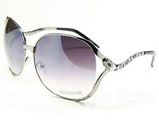 Glamorous Oversized Sunglasses with Color Details Stylish Metal Arms